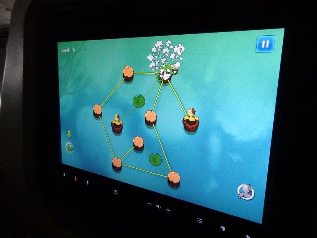 スリランカ航空 UL455便 機内のエンタテイメントサービス(Walk the Vineつる草歩きゲーム)