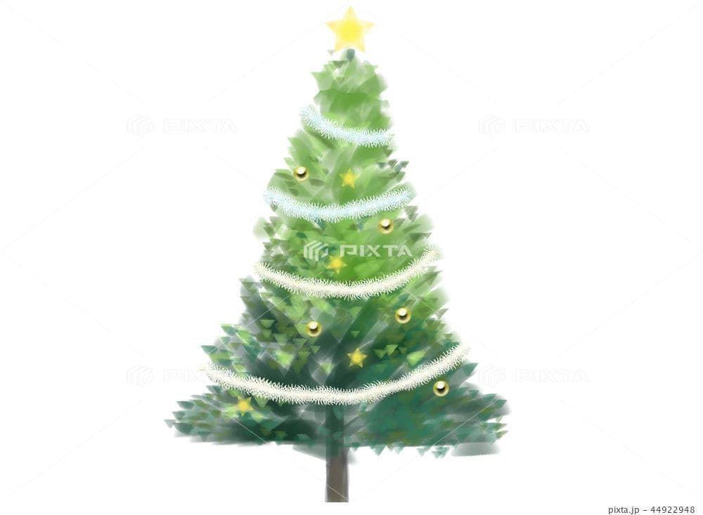 CLIP STUDIO PAINT PRO(クリスタ)で描いたクリスマスツリーのイラスト