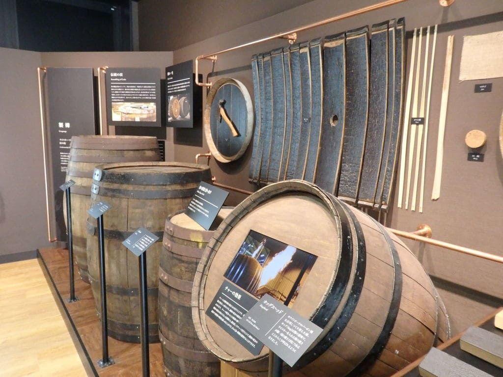 ニッカウヰスキー宮城峡蒸溜所(仙台工場)  ビジターセンター内の展示