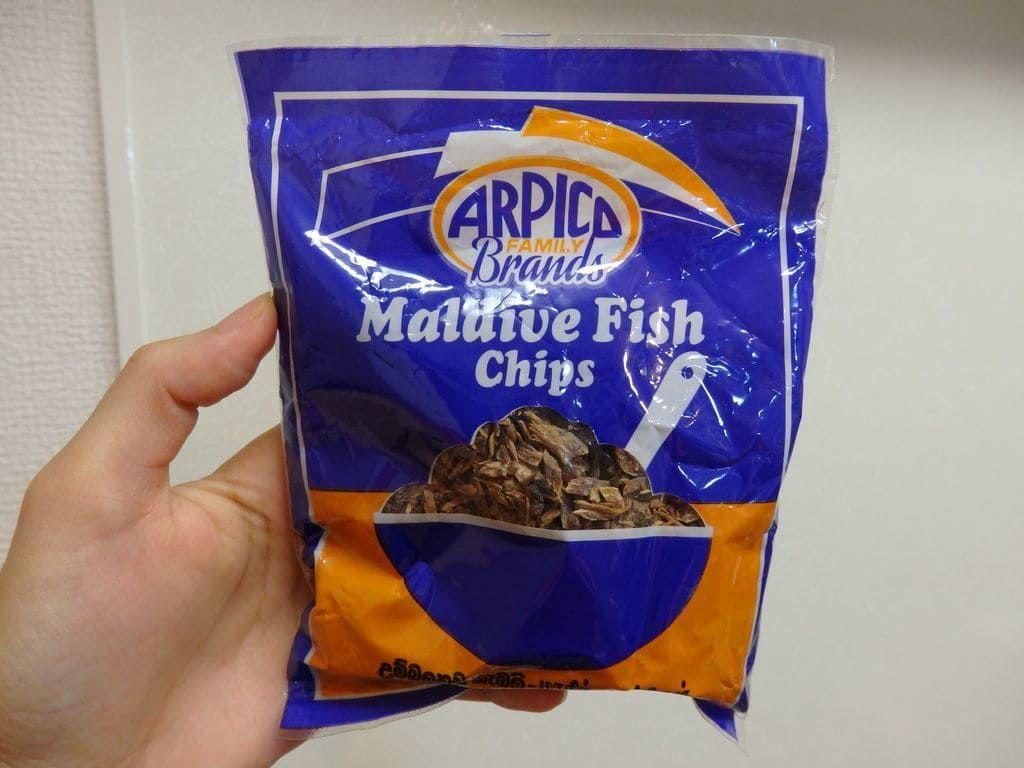 スリランカ旅行おすすめのお土産 調味料 かつお節 モルディブフィッシュ(Maldive Fish Chips)