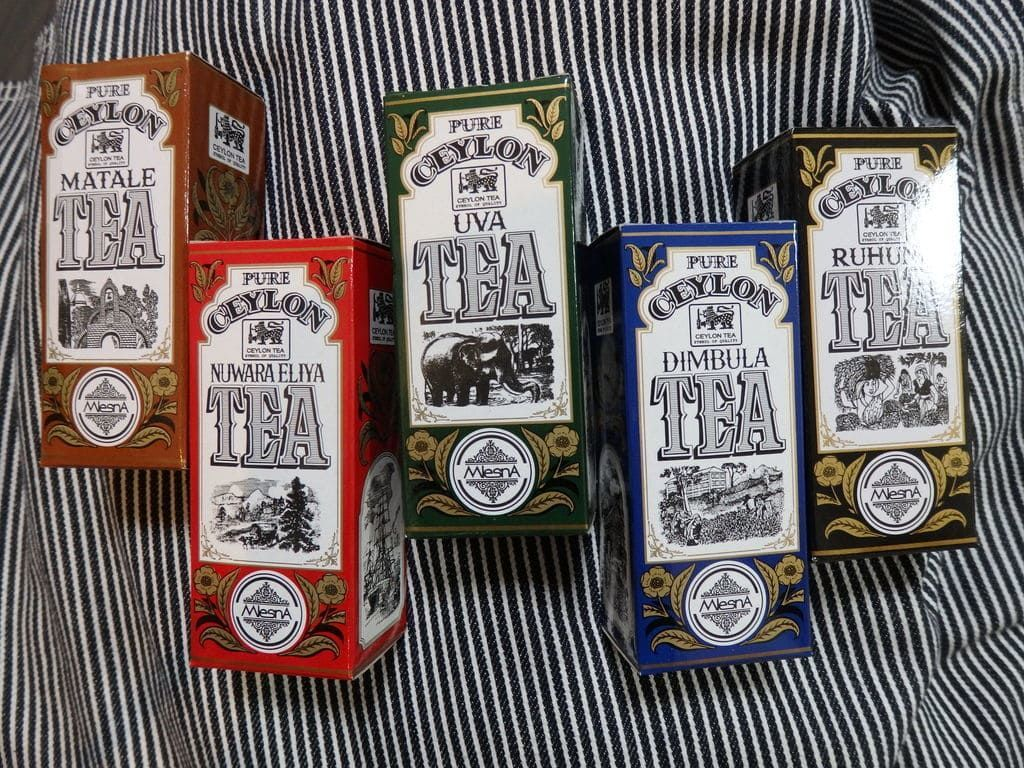 スリランカ旅行おすすめのお土産 紅茶 ムレスナ リージョナルコレクション(Mlesna 5 Assorted tea)