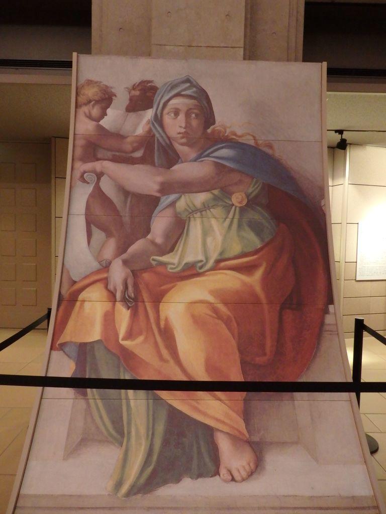 大塚国際美術館 「システィーナ礼拝堂天井画および壁画」ミケランジェロ 天井画を下に降ろしてみたパネル