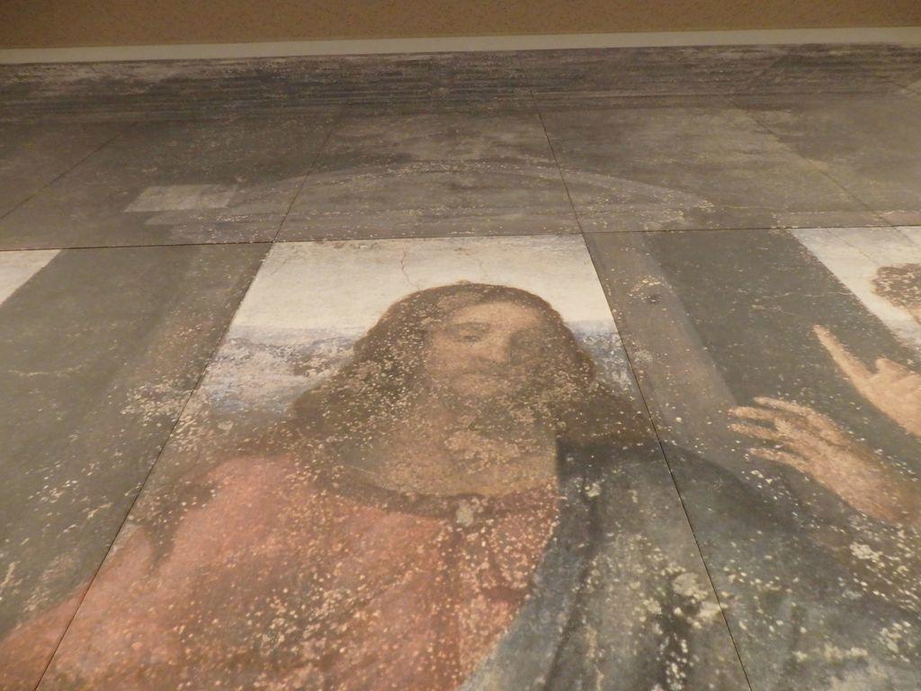 大塚国際美術館 「最後の晩餐」レオナルド・ダ・ヴィンチ 修復前 イエスの口元