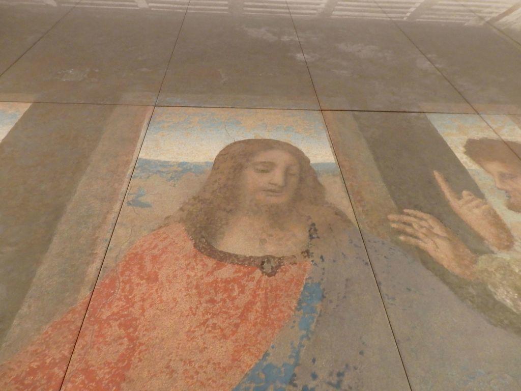 大塚国際美術館 「最後の晩餐」レオナルド・ダ・ヴィンチ 修復後 イエスの口元