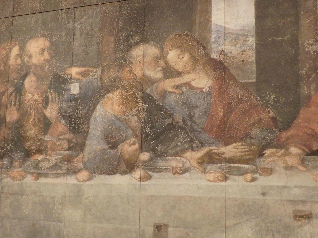 大塚国際美術館 「最後の晩餐」レオナルド・ダ・ヴィンチ 修復前 ユダの右手