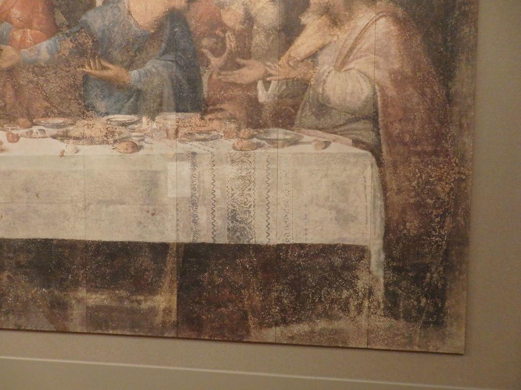 大塚国際美術館 「最後の晩餐」レオナルド・ダ・ヴィンチ 修復前 テーブルの下の足元