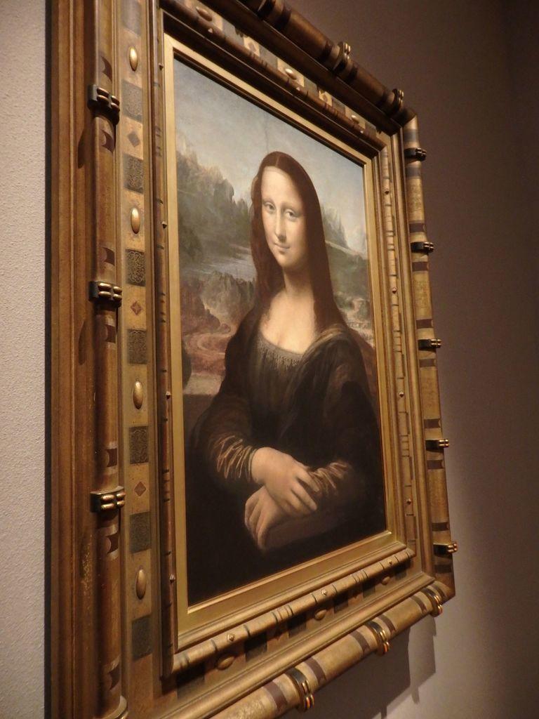 大塚国際美術館 「モナ・リザ」レオナルド・ダ・ヴィンチ 表情が一番美しく見える!という自分なりのベストポジション
