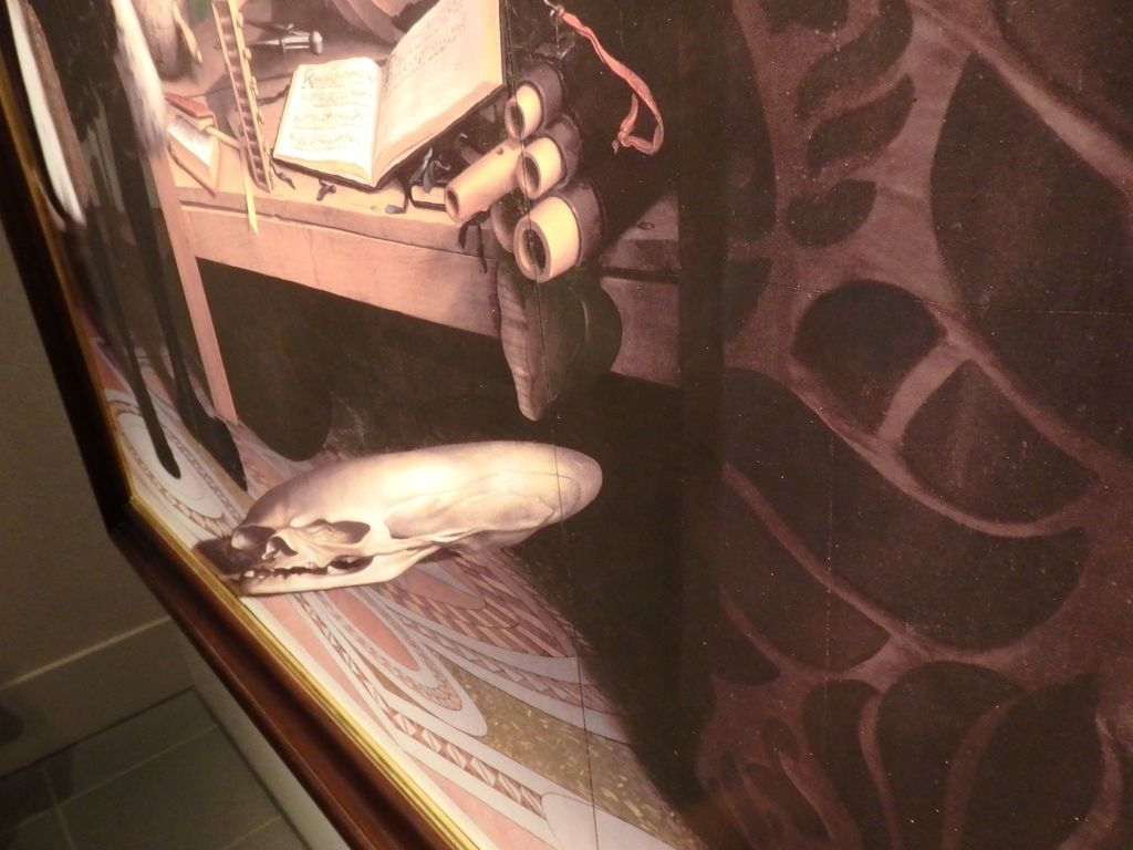 大塚国際美術館 「大使たち」ハンス・ホルバイン(子) 頭蓋骨だまし絵
