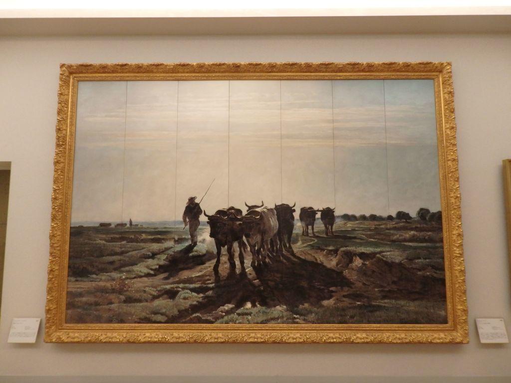 大塚国際美術館 「耕地へ向かう牛」トロワイヨン