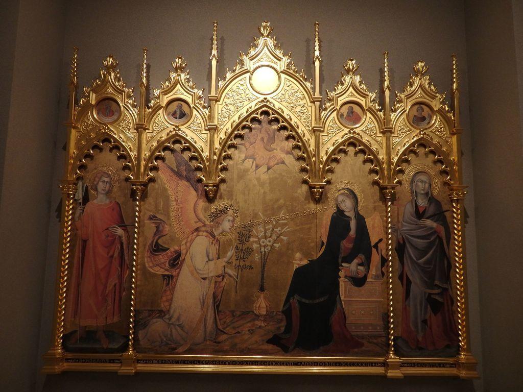 大塚国際美術館 「受胎告知と二聖人」シモーネ・マルティーニ