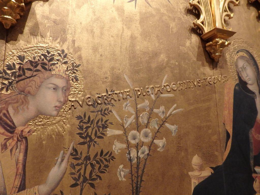 大塚国際美術館 「受胎告知と二聖人」シモーネ・マルティーニ 漫画のふきだしのよう