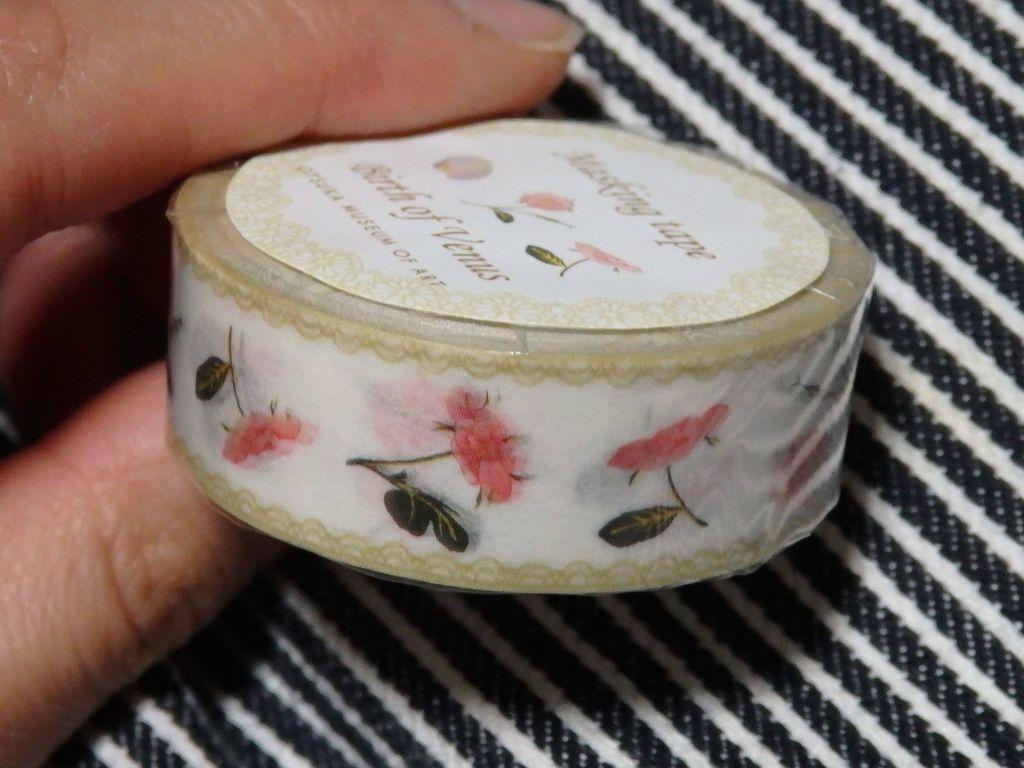 大塚国際美術館おみやげ マスキングテープ ヴィーナスのバラ 432円