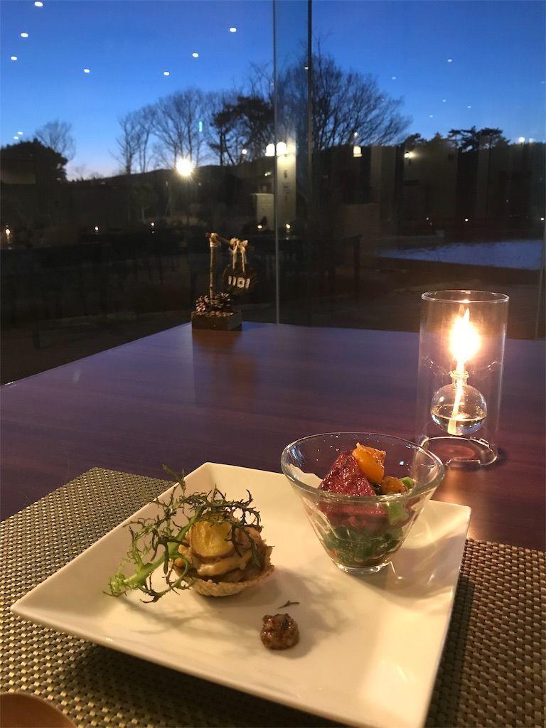 季節野菜と柑橘のサラダ、おさつクリームタルト