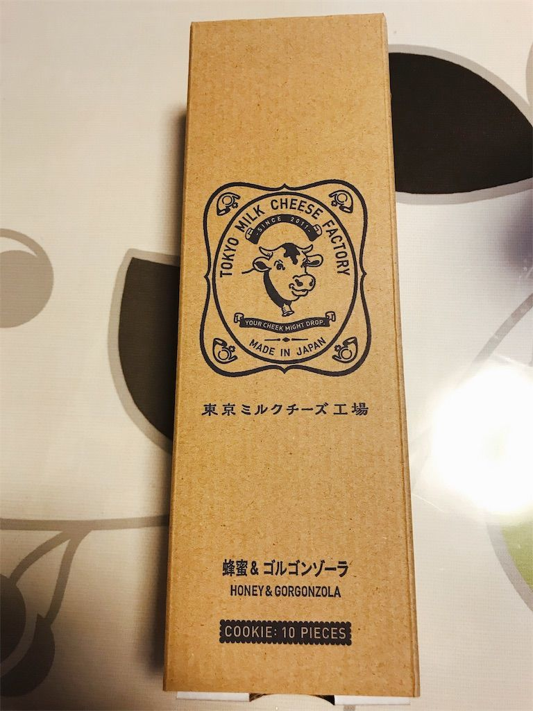 ワインに合う 東京ミルクチーズ工場 蜂蜜&ゴルゴンゾーラクッキー レトロ可愛いパッケージ