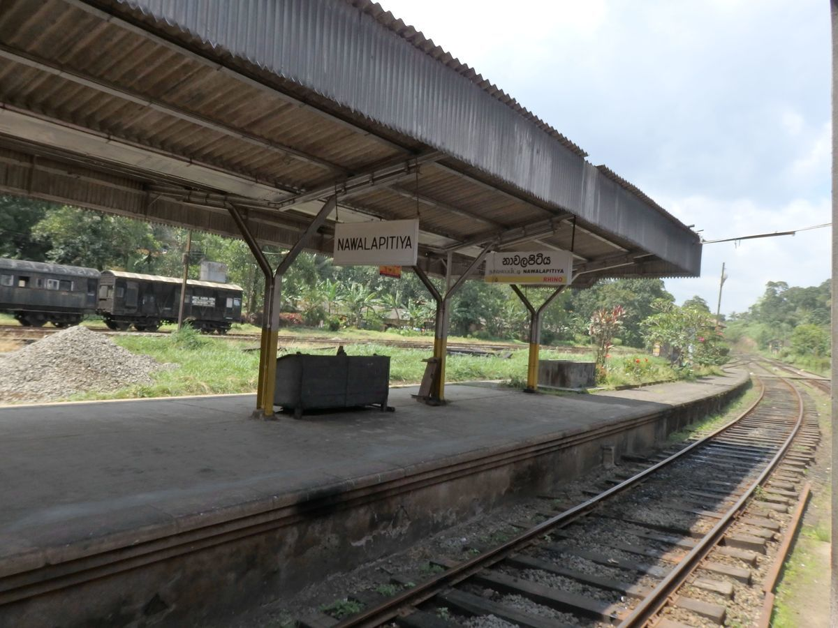 スリランカ キャンディとヌワラ・エリヤを結ぶ高原列車/紅茶列車 Nawalapitiya(ナワラピティヤ)駅