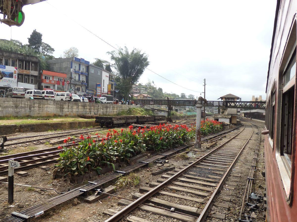 スリランカ キャンディとヌワラ・エリヤを結ぶ高原列車/紅茶列車 Hatton駅(ハットン)駅