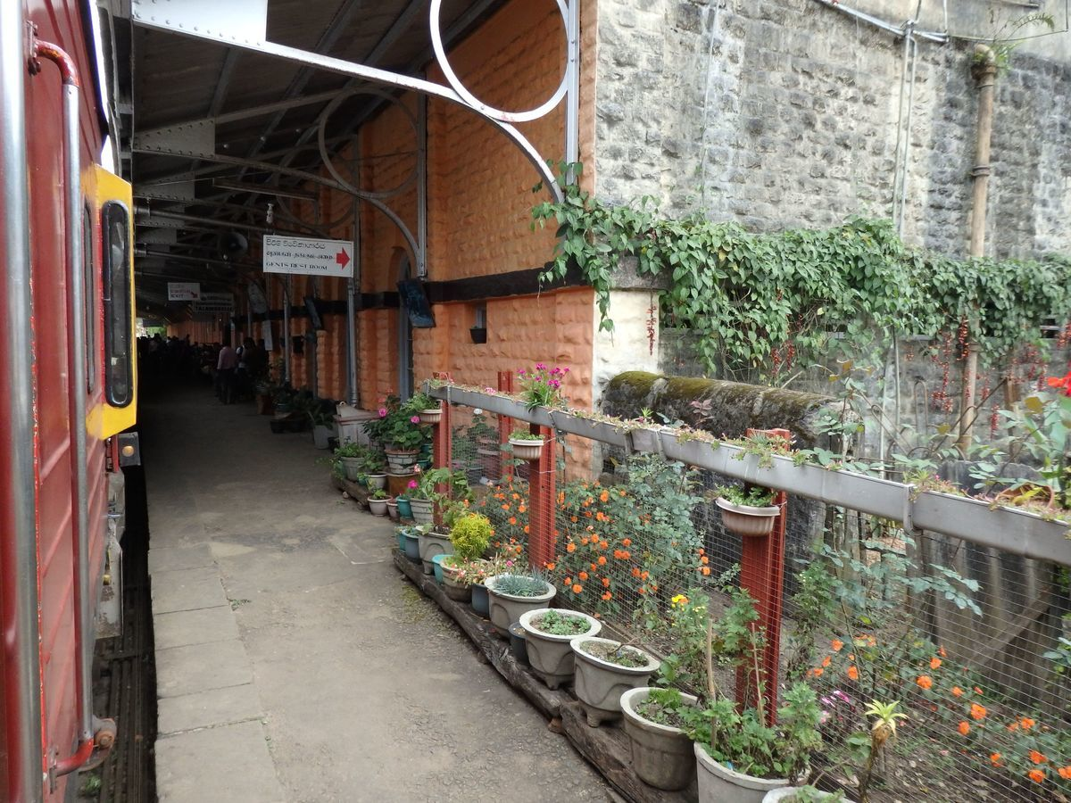 スリランカ キャンディとヌワラ・エリヤを結ぶ高原列車/紅茶列車 Talawakele(タラワケレ)駅