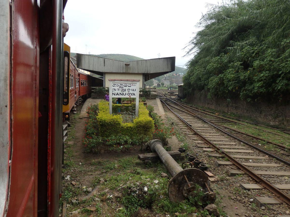 スリランカ キャンディとヌワラ・エリヤを結ぶ高原列車/紅茶列車 Nanu Oya(ナヌ・オヤ)駅