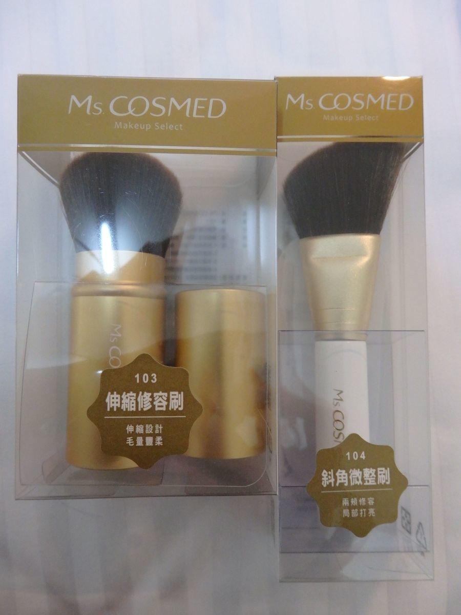 Ms.COSMED メイクブラシ 化粧筆「伸縮修容刷103」「斜角微整刷104」ハイライト、シェーディング、チーク、フェイスパウダー用