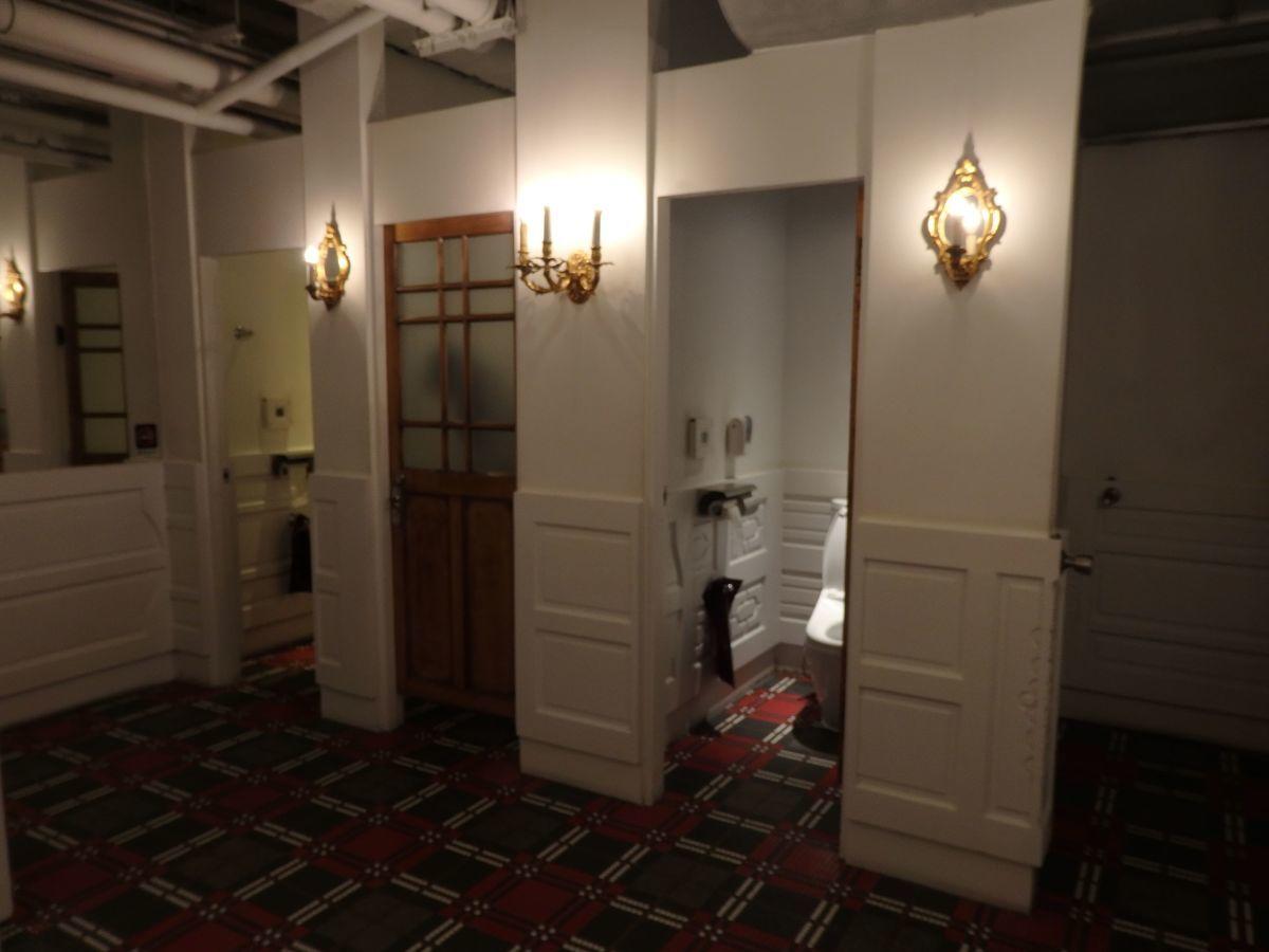宮原眼科の2号店「第四信用合作社」2階お手洗いの内装