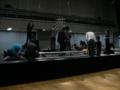 ステージ設営中