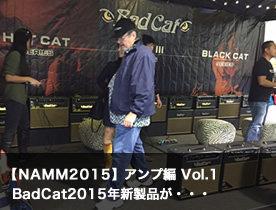 【NAMM ブースレポート】アンプ編 vol.1 BadCat2015年新製品が・・・