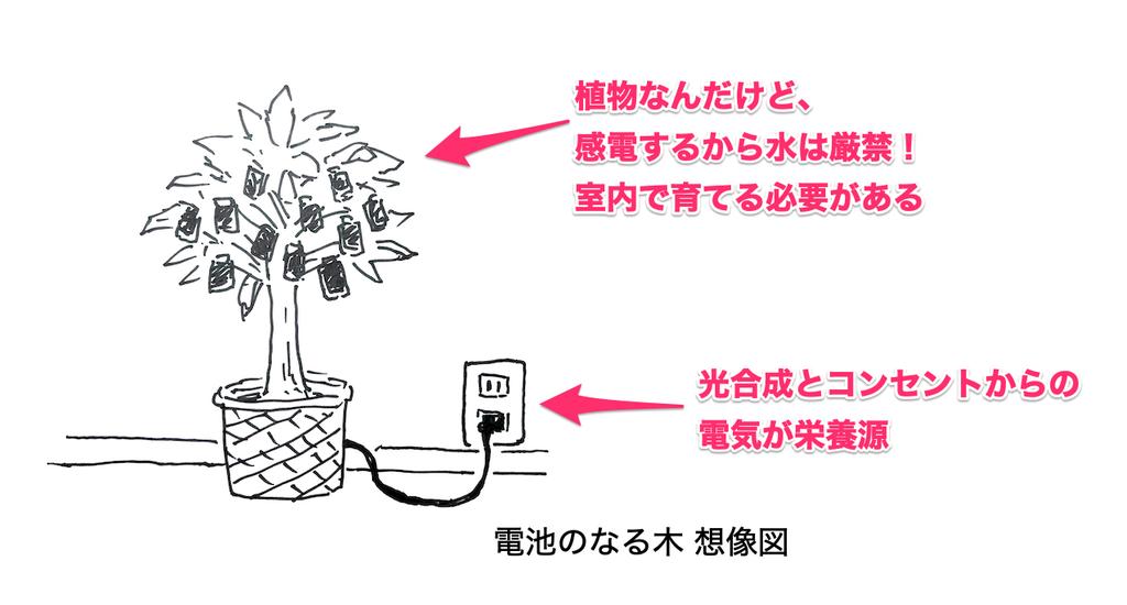 9V電池のなる木(想像図)