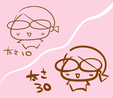 f:ペンの太さの違いによる印象の変化