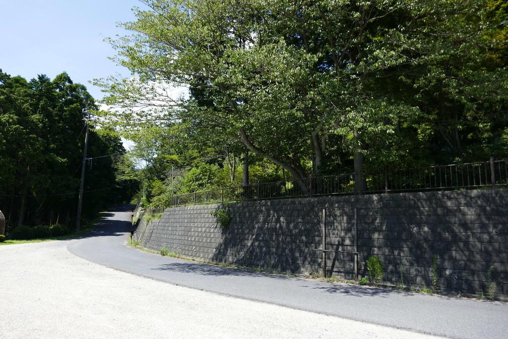 観音山公園 塀