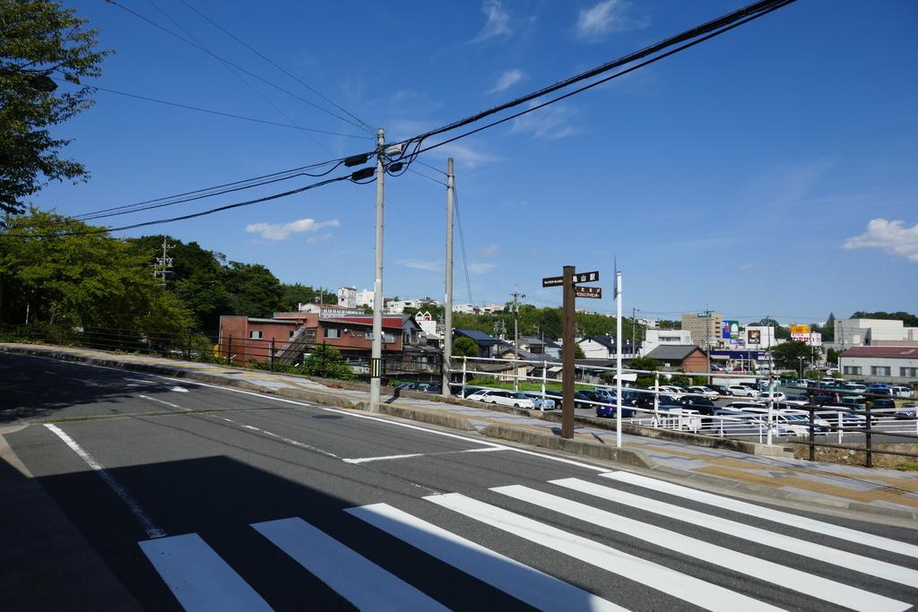 亀山城址への道のり