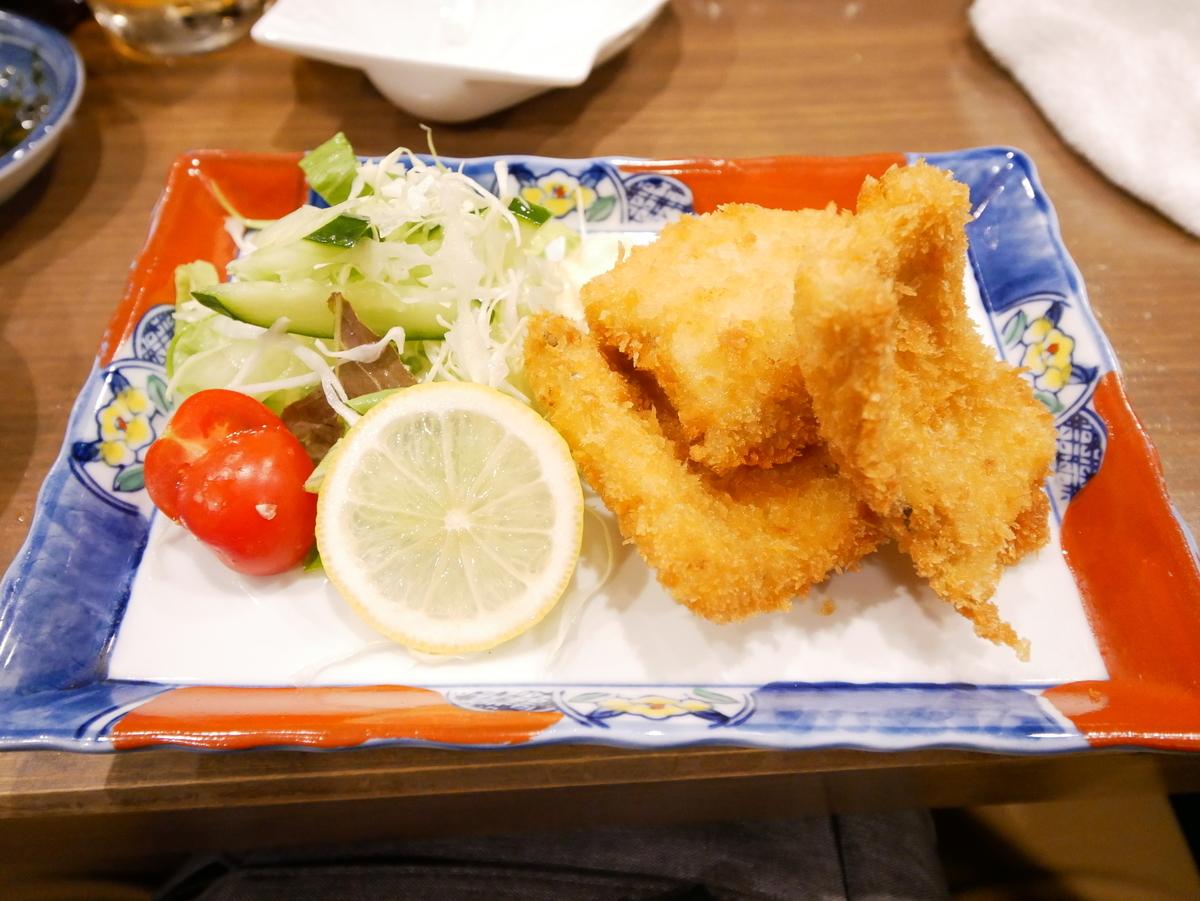 清水区巴町 新生丸 太刀魚のフライ