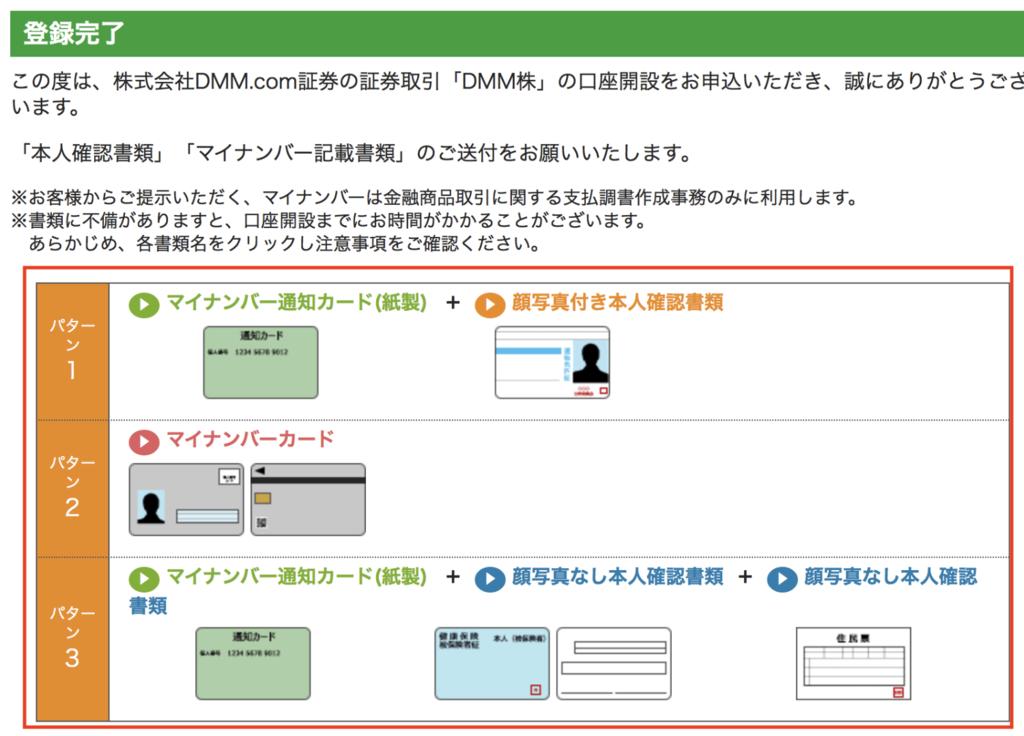 DMMFXの新規口座開設の本人確認書類のパターン