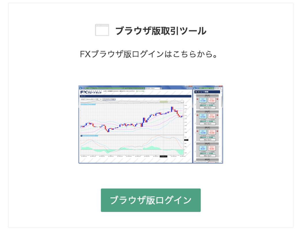 FXブロードネットのログイン画面