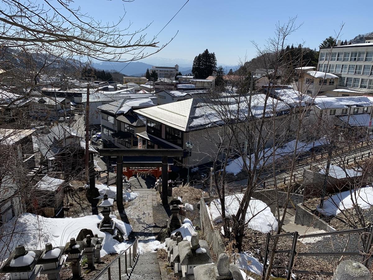酢川温泉神社の景色