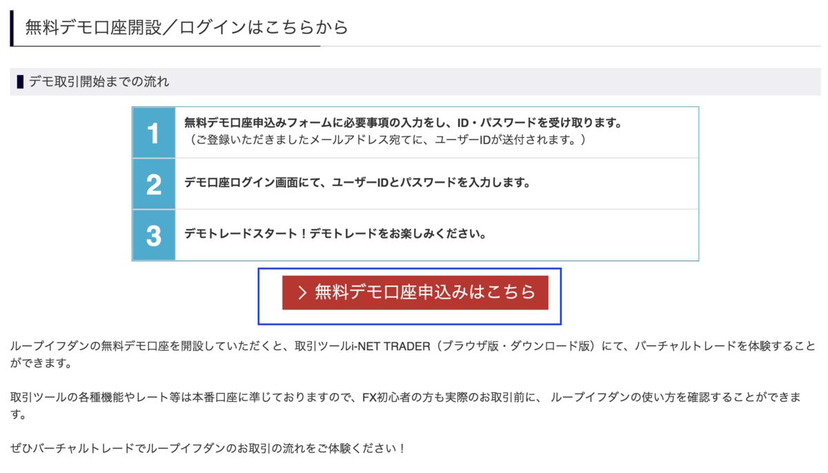 アイネット証券のデモトレード登録画面