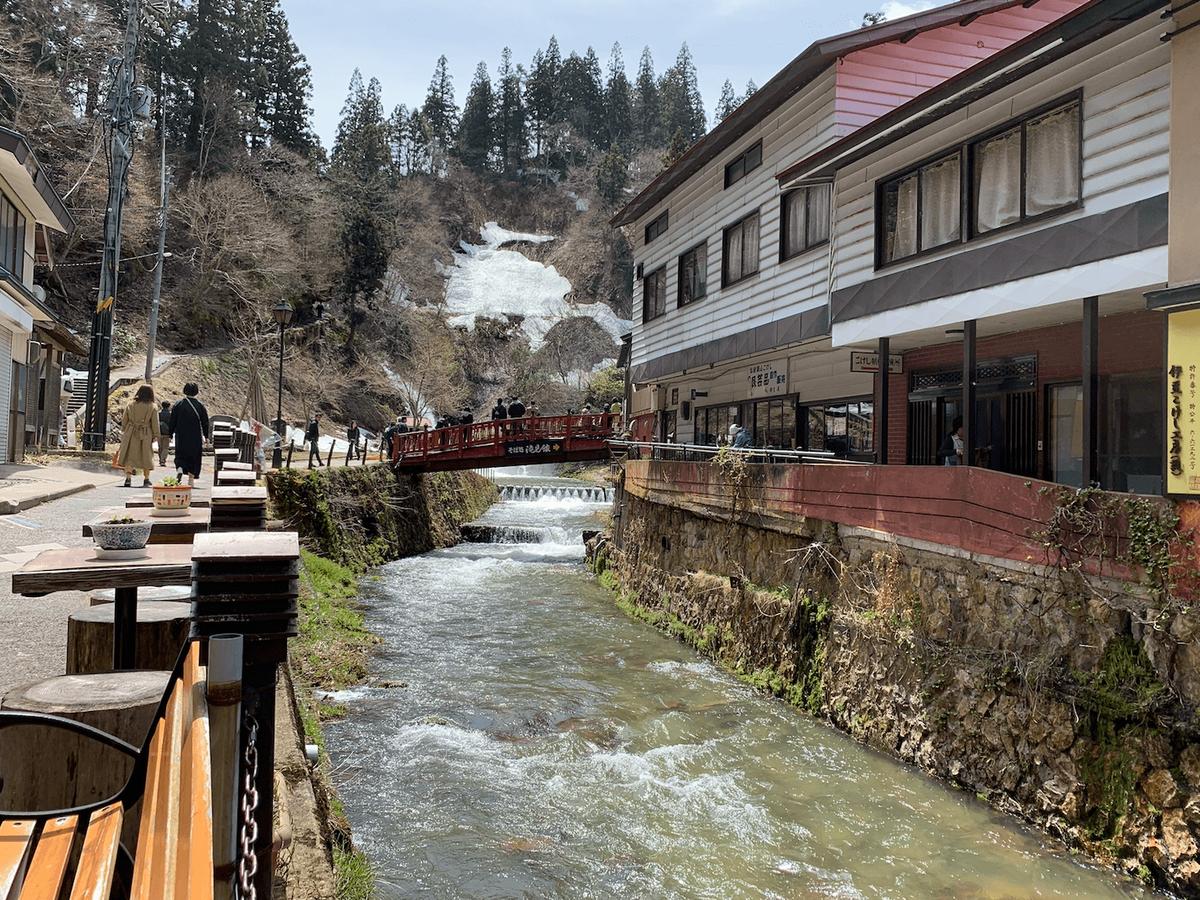 銀山温泉のはいからさんの風景