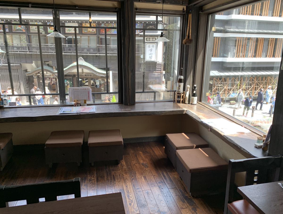銀山温泉カフェの伊豆の華