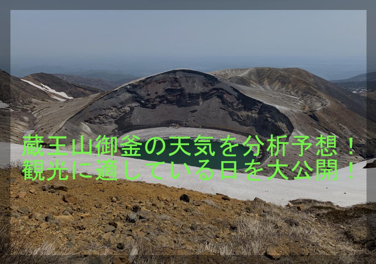 蔵王山御釜の天気を分析予想!観光に適している日を大公開!