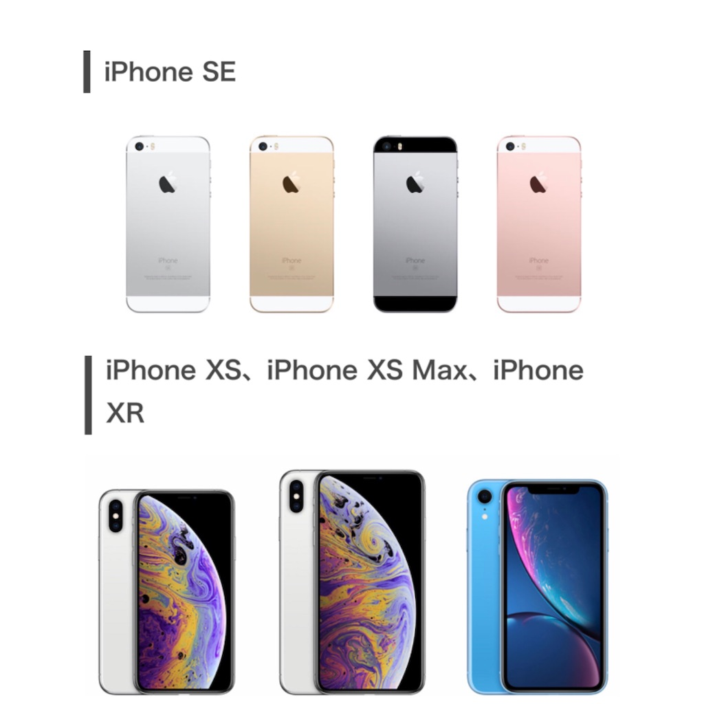 iPhoneXSMAXの過去モデルとの比較