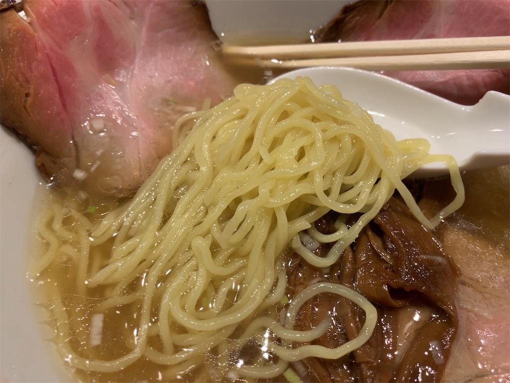中華そばふくちゃんの中華そばの麺