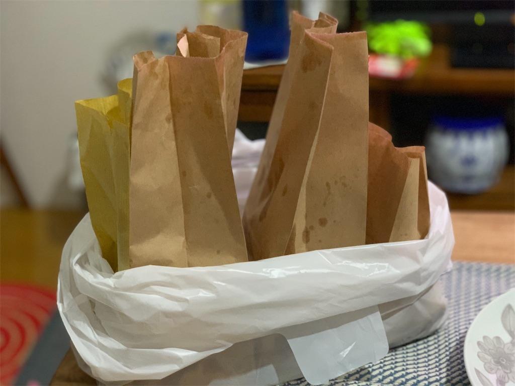肉の伊藤のお惣菜を持ち帰った時の写真