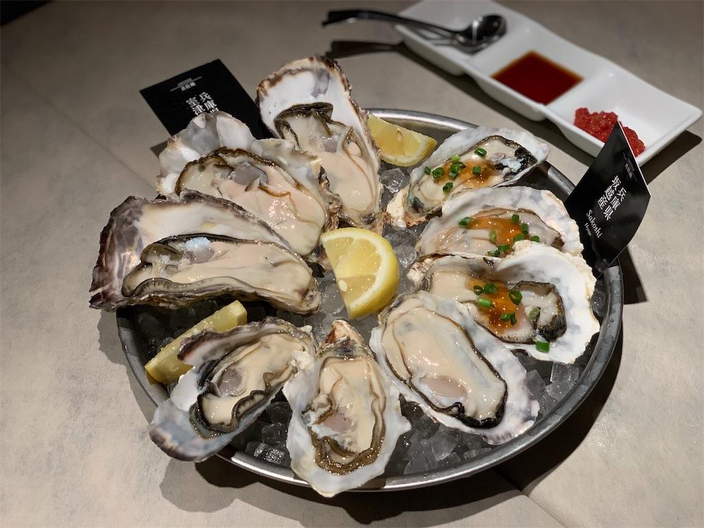 フィッシュ&オイスターバーの牡蠣