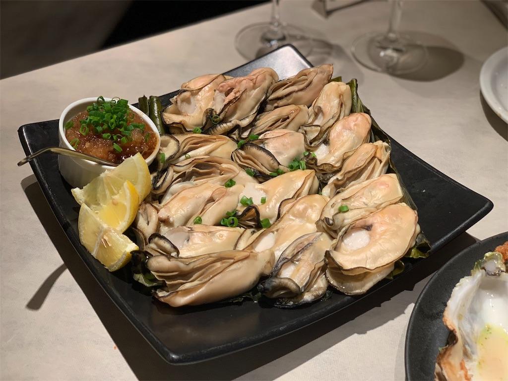 フィッシュ&オイスターバーの牡蠣の昆布巻き