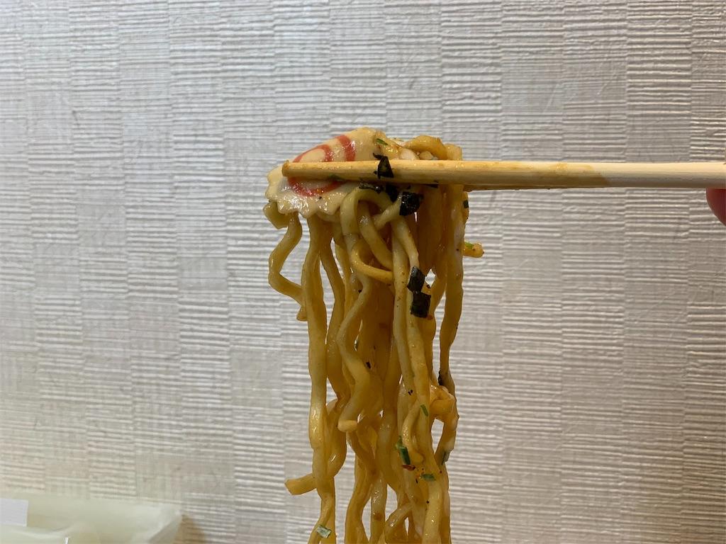 ぶぶか油そばカップ麺の麺