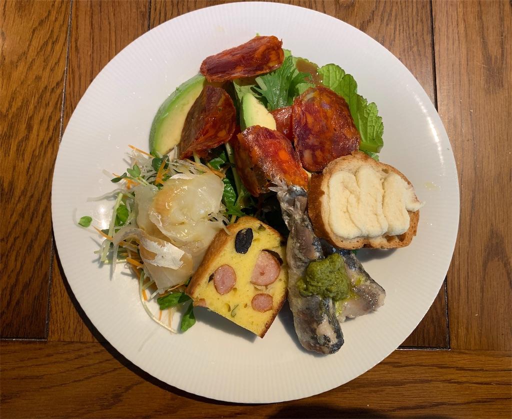 トラッペリアコルテロの前菜の上からの写真