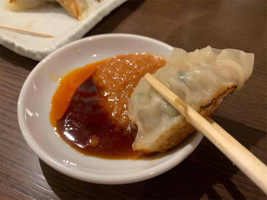 ふくべえの餃子と味噌ダレ