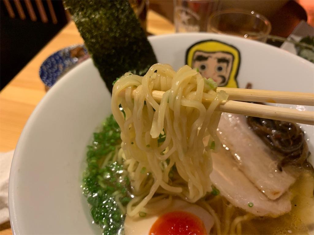 大重食堂の純らーめん七節の麺