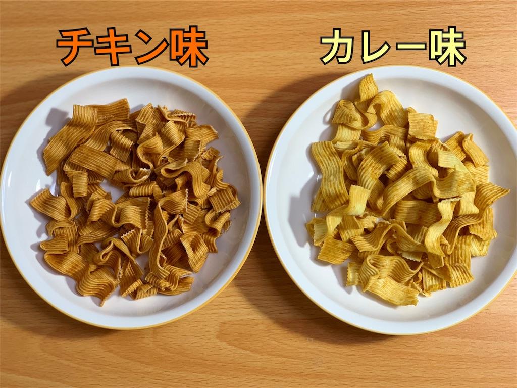 チキン味とカレー味の比較