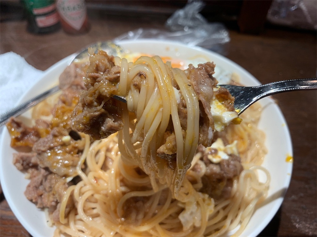 ラフォーレのパスタ麺