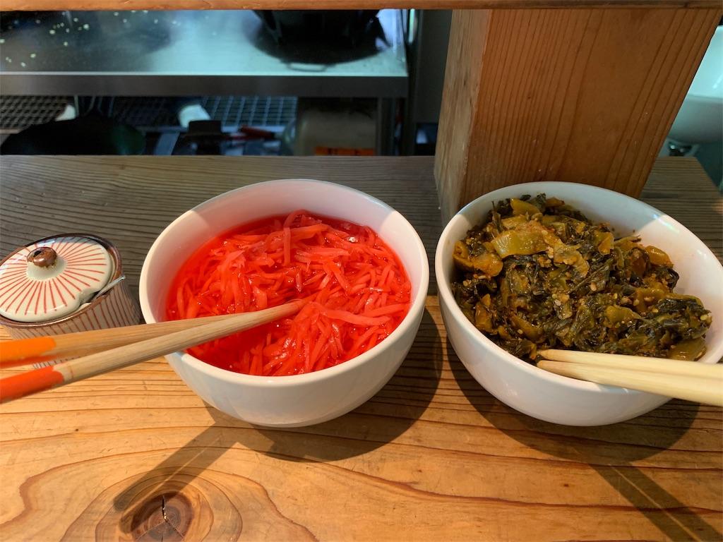 博多濃麻呂の辛子高菜と紅しょうが